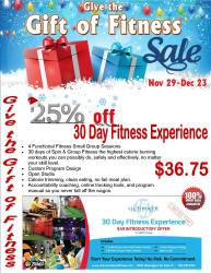 give of fitness 25% off